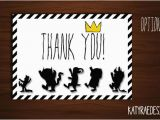 Where the Wild Things are Birthday Card where the Wild Things are Birthday Thank You by Katyraedesigns