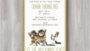 Where the Wild Things are Birthday Invitation Template where the Wild Things are Custom Birthday Party Invitation