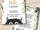 Where the Wild Things are Birthday Invitations where the Wild Things are Birthday Invitation Let the Wild