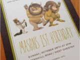 Where the Wild Things are Birthday Invitations where the Wild Things are Birthday Invitation