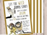 Where the Wild Things are Birthday Invitations where the Wild Things are Birthday Party Invitation