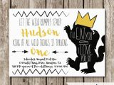 Where the Wild Things are Birthday Invitations where the Wild Things are Birthday Party Invitation Wild One