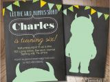 Where the Wild Things are Birthday Invitations where the Wild Things are Invitation Boy Birthday Invitation