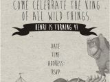 Where the Wild Things are Birthday Invitations where the Wild Things are themed Birthday Invitation and