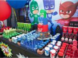 Where to Buy Birthday Decorations Kara 39 S Party Ideas Pj Masks Superhero Birthday Party