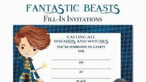Where to Buy Birthday Invitations Fantastic Beasts and where to Find them Invitation
