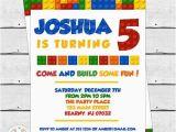 Where to Buy Lego Birthday Invitations Colorful Blocks Birthday Party Invitation Lego