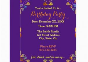 Where to Make Birthday Invitations Create Your Own Colorful Birthday Party Invitation Zazzle