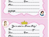 Where to Make Birthday Invitations Create Your Own Princess Birthday Party W Free Printables