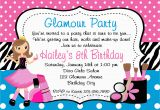 Where to Make Birthday Invitations Printable Birthday Invitations Girls Glamor Beauty Party