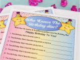 Who Knows the Birthday Girl Best Questions Personalized Quot who Knows the Birthday Star Quot Game
