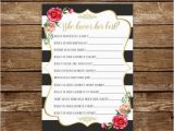 Who Knows the Birthday Girl Best Questions who Knows Her Best Printable Birthday Game Bridal Shower Game