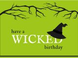 Wicked Birthday Card Green Wicked Halloween Birthday Card Templates by Canva