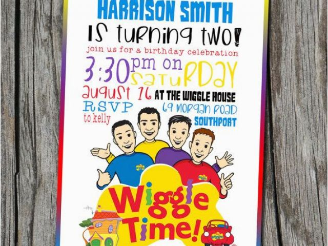Wiggles Birthday Invitations Printable 17 Best Images About Wiggles