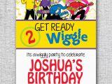 Wiggles Birthday Invitations Printable Birthday Invitation Wiggles Modern by theprintablecafe On Etsy