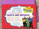 Wiggles Birthday Invitations Printable the Wiggles Birthday Party Invitation Any Age Kids