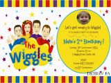 Wiggles Birthday Invitations Printable the Wiggles Birthday Party Supplies Personalised
