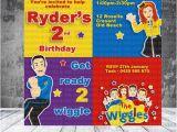 Wiggles Birthday Invitations Printable the Wiggles Inspired Printable Invitation by