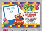 Wiggles Birthday Invitations Printable the Wiggles Invitation with Photo Insert Choose by