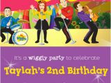 Wiggles Birthday Invitations Printable the Wiggles Pink and Purple Background Girl Birthday Party