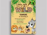 Wild Animal Birthday Party Invitations Best 25 Safari Invitations Ideas On Pinterest Monkey