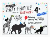 Wild Animal Birthday Party Invitations Black White Wild Party Animal Birthday Invitation Zazzle Com
