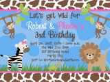 Wild Animal Birthday Party Invitations Free Birthday Party Invitation Templates Free Invitation