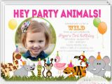Wild Animal Birthday Party Invitations Zoo Birthday Party Invitation Safari Invitation by