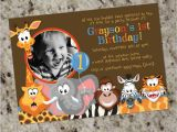 Wild Animal Birthday Party Invitations Zoo Buddies Zoo Jungle Safari Animals themed Birthday