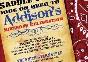 Wild West Birthday Invitations Diy Printable Cowgirl or Cowboy Wild West Inspired Birthday
