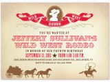 Wild West Birthday Invitations Party Invitations Wild West Rodeo at Minted Com