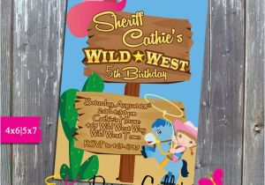 Wild West Birthday Invitations Sheriff Callie Wild West Birthday Party Invitation Printable
