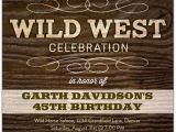 Wild West Birthday Invitations Wild West Celebration Birthday Invitations Paperstyle