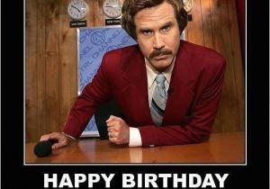 Will Ferrell Birthday Card Ron Burgundy Happy Birthday Saying