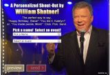 William Shatner Birthday Card Bring A Little More Shatner Into Your Life with A