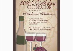 Wine Themed Birthday Cards Tuscan Party Invitation Card