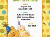 Winnie the Pooh Birthday Invitations Free Printable Free Printable Winnie the Pooh First Birthday Invitations