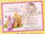 Winnie the Pooh Birthday Invitations Free Printable Winnie the Pooh 1st Birthday Invitations Printable