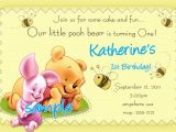 Winnie the Pooh Birthday Invitations Free Printable Winnie the Pooh 1st Birthday Invitations Printable Photo