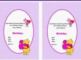 Winnie the Pooh Birthday Invitations Free Printable Winnie the Pooh Birthday Invitations Birthday Printable