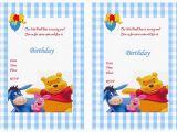 Winnie the Pooh Birthday Invitations Free Printable Winnie the Pooh Birthday Invitations Winnie the Pooh