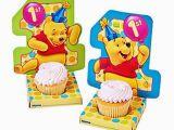 Winnie the Pooh Decorations 1st Birthday Disney Winnie the Pooh 1st Birthday Dots Cupcake Holders