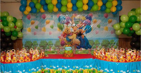 Winnie the Pooh Decorations 1st Birthday Winnie the Pooh Birthday Party Ideas Photo 11 Of 74