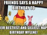 Winnie the Pooh Happy Birthday Meme Friends Says A Happy Birthday to their Bestiest and
