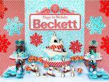 Winter Birthday Gifts for Him Kara 39 S Party Ideas Winter Onederland Birthday Party Kara