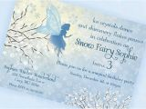 Winter themed Birthday Invitations Snow Fairy Invitation Winter Wonderland by Gwynnwassondesigns
