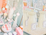 Winter Wonderland 1st Birthday Decorations Kara 39 S Party Ideas Winter Wonderland Girl Snow 1st
