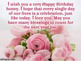 Wish You A Very Happy Birthday Quotes Honey Birthday Wishes Segerios Com