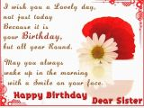 Wishing My Sister A Happy Birthday Quote Happy Birthday Dear Sister Pictures Photos and Images