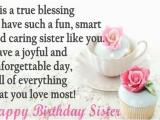 Wishing My Sister A Happy Birthday Quote Happy Birthday Sister Quotes and Wishes